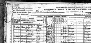 1920 United States Federal Census