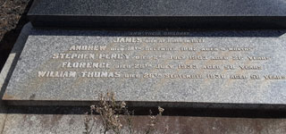 MAIR Family Grave - Plaque of children