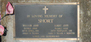 SHORT, William John
