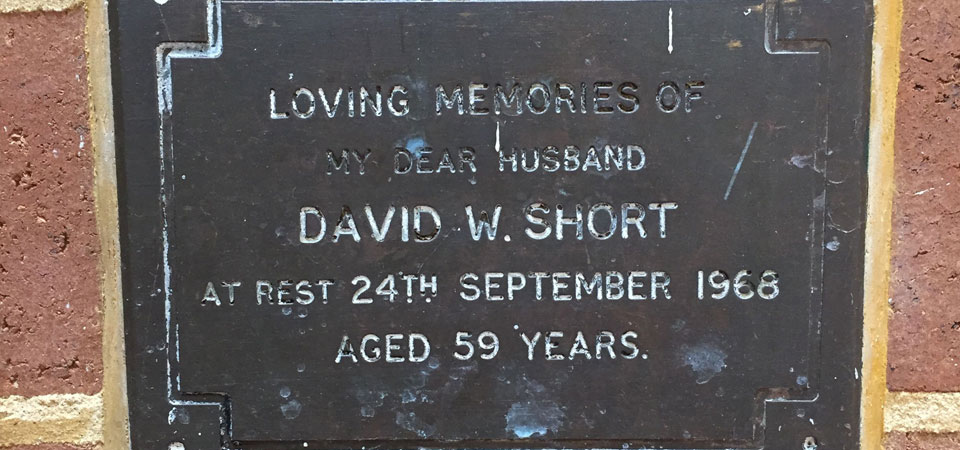 SHORT, David William