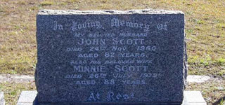 <b>John SCOTT & Minnie SCOTT (nee FOSTER)</b>