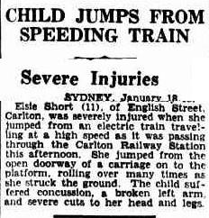CHILD JUMPS FROM SPEEDING TRAIN