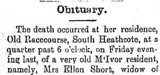 FENNELLY, Ellen (Mrs SHORT)