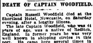 Death of Captain Woodfield