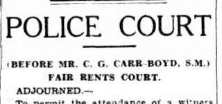 Police Court - Fair Rents Court