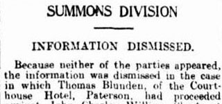 Summons Division - Information Dismissed