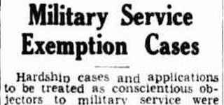 Military Service - Exemption Cases