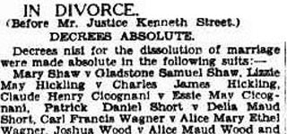 In Divorce (before Mr. Justice Kenneth Street)