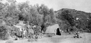 Gallipoli, Turkey. September 1915. Indian Army bivouacs at the foot of Shrapnel Gully.